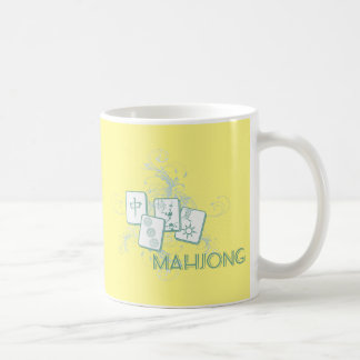 mahjong blue coffee mug