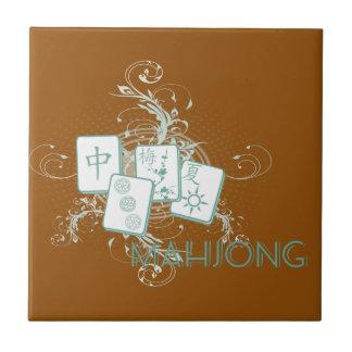 mahjong blue tile