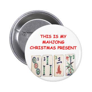 MAHJONG christmas 6 Cm Round Badge