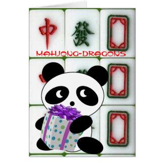 Mahjong-dragons birthday note card