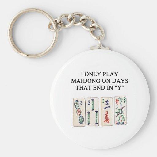 mahjong lover key chains