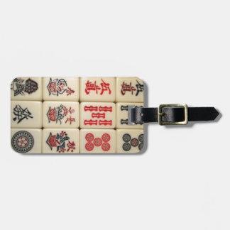 Mahjong tiles luggage tag