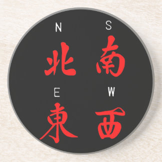 Mahjong Winds,Honor Suit,North,South,East,West (c) Sandstone Coaster