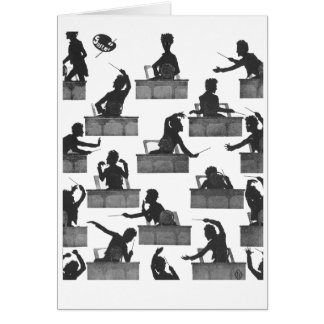 Mahler Conducting Silhouettes by Otto Bohler Card