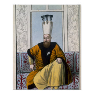 Mahmud I (1696-1754) Sultan 1730-54, from 'A Serie Posters