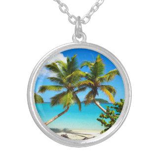 Maho Bay Beach Palm Trees - St John Necklace