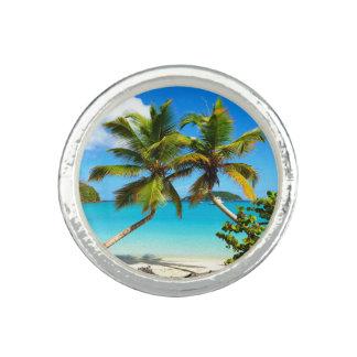 Maho Bay St. John Palm Trees Photo Ring