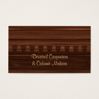 Mahogany colored dovetail joint business card