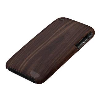 Mahogany Dark Wood Grain Texture iPhone 3 Cover