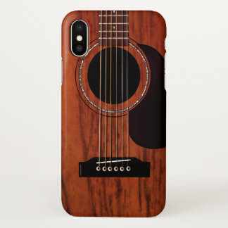 Mahogany Top Acoustic Guitar iPhone X Case