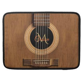 Mahogany Wood Acoustic Guitar Macbook Sleeve