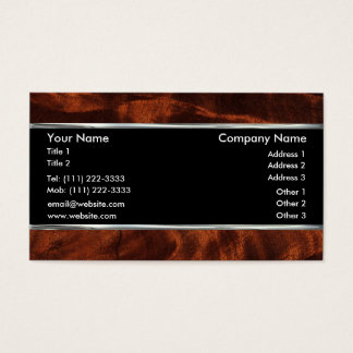 Mahogany Wood Background Business Card