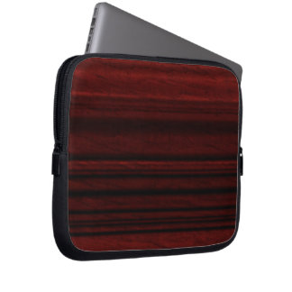 Mahogany Wood Grain Laptop Computer Sleeve