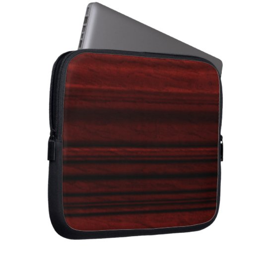 Mahogany Wood Grain Laptop Sleeve