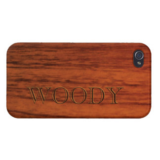 Mahogany Wood Print Name Template Cover For iPhone 4