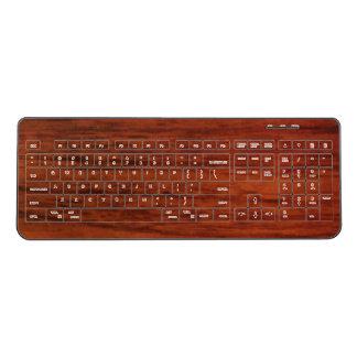 Mahogany Wood Wireless Keyboard