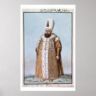 Mahomet (Mehmed) III (1566-1603) Sultan 1595-1603, Poster