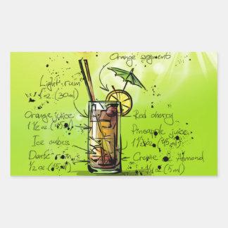Mai Tai - Cocktail Gift Rectangular Sticker