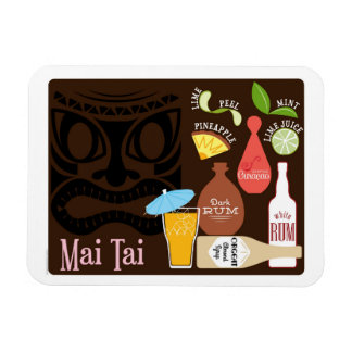 Mai Tai Tiki Bar Cocktail Magnet