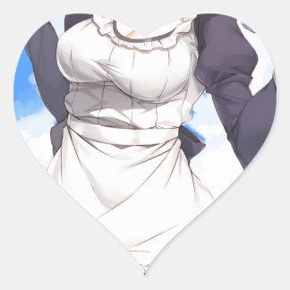 Maid By The Beach Heart Sticker