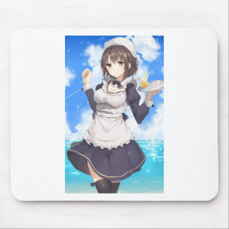 Maid By The Beach Mouse Pad