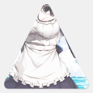 Maid By The Beach Triangle Sticker