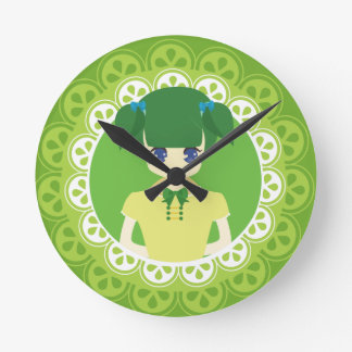 [Maid Café Series] Green Maid #02 Wall Clock