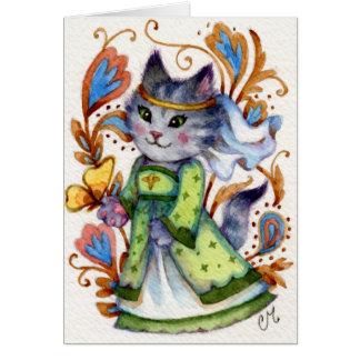 Maid Marian - Cute Robin Hood Cat Greeting Card