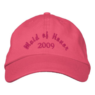 Maid of Honor 2009 Embroidered Hat