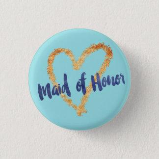 Maid of Honor Art Brush on Island Paradise 3 Cm Round Badge