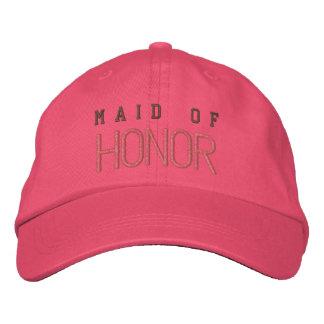 Maid of honor bachelorette pink baseball cap