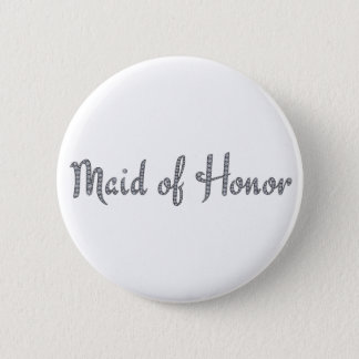 Maid of Honor bling button