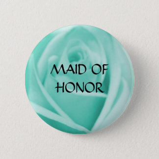 MAID OF HONOR - blue rose  button