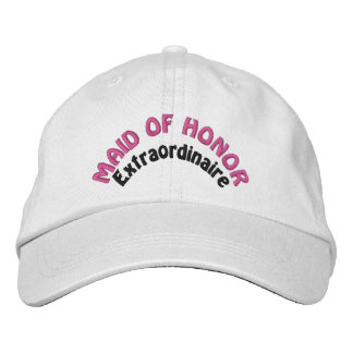 Maid of Honor Bridal Party Embroidered Hat