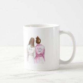 Maid of Honor? Brunette Bride Auburn Bun Maid Coffee Mug