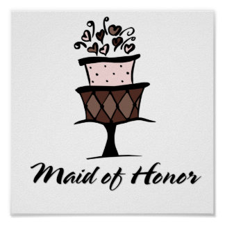 Maid of Honor Cake Posters