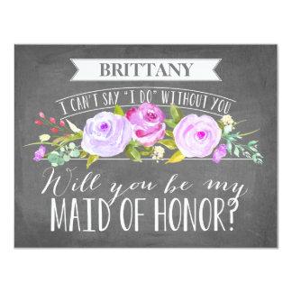 Maid Of Honor Card | Bridesmaid 11 Cm X 14 Cm Invitation Card