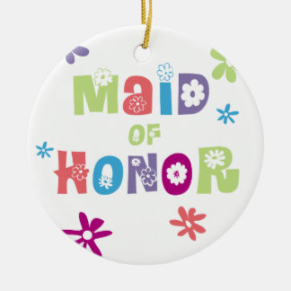 Maid of Honor Ceramic Ornament