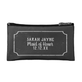 Maid Of Honor Chalkboard Wedding Cosmetic  Bag