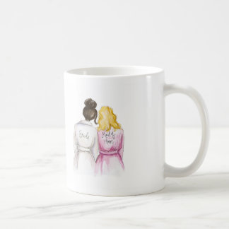 Maid of Honor? Dk Br Bun Bride Blonde Waves Maid Coffee Mug