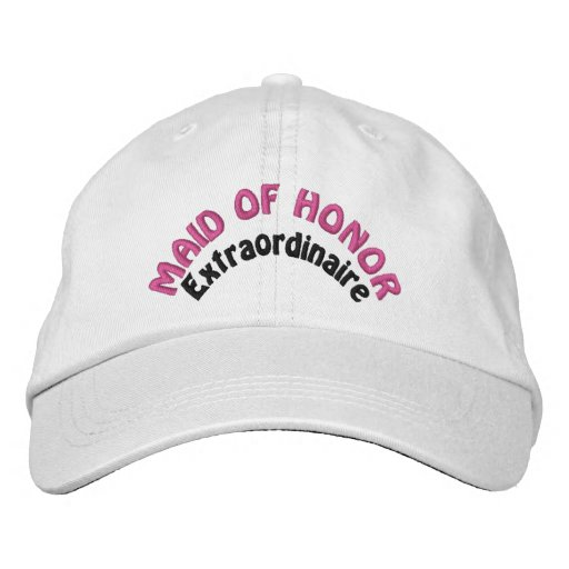 Maid of Honor Extraordinaire Embroidered Baseball Caps