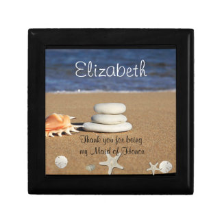 Maid of Honor Gift Box, Beach, Shells, Sand Dollar Gift Box