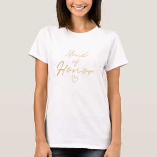 Maid of Honor - Gold faux foil t-shirt