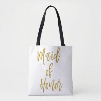 Maid of Honor Gold Wedding Bag