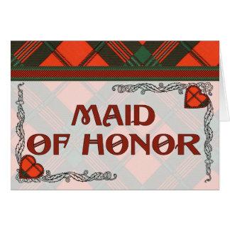 Maid of Honor Invitation - Scott Tartan