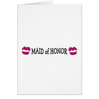 Maid of Honor Lips Card