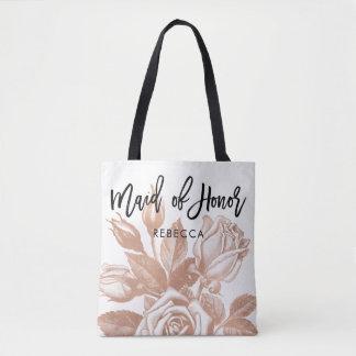 Maid of Honor | Modern Vintage Tea Rose Tote Bag