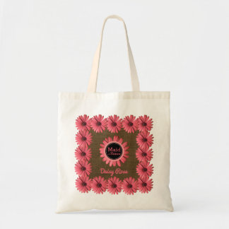 Maid of Honor Monogrammed | Rustic Wedding Party Tote Bag