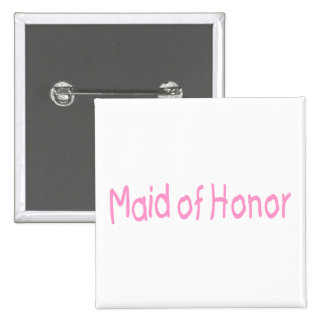 Maid Of Honor (Pink) 15 Cm Square Badge
