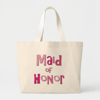 Maid of Honor Pink Brown Canvas Bags